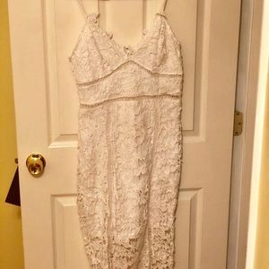 Charlotte Russe white lace fitted dress
